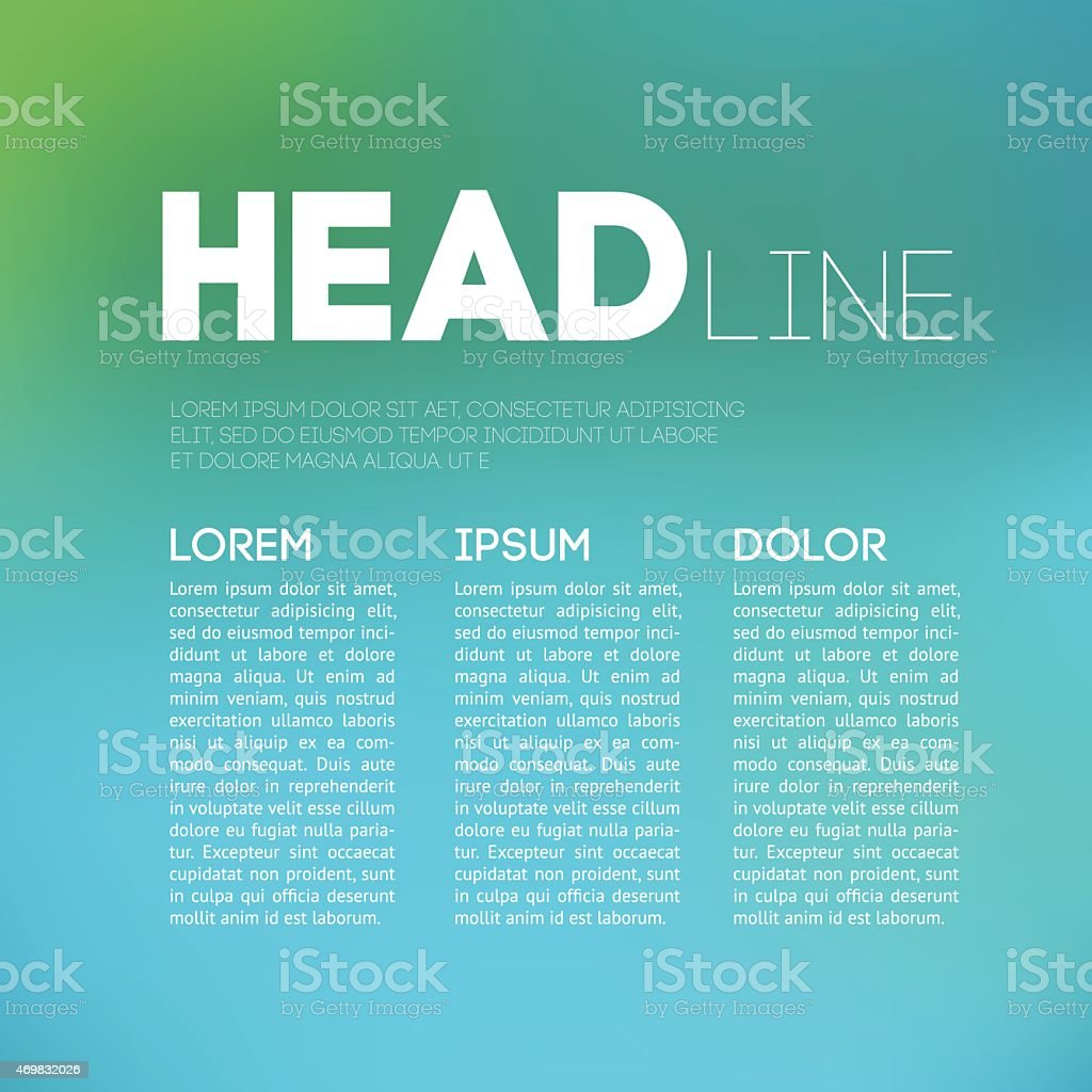 Magazine page layout with room for a headline and body text vector art illustration