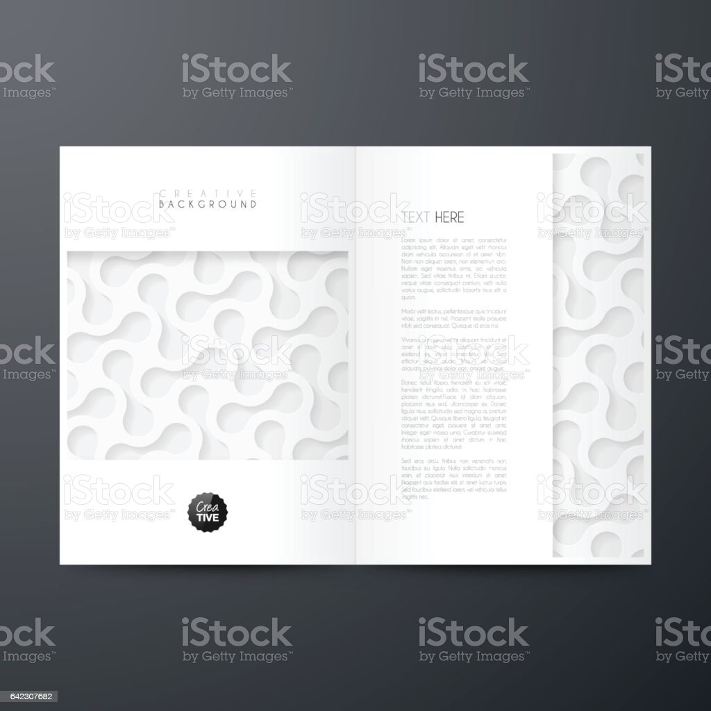 Magazine template layout, brochure, cover design, business annual report, flyer vector art illustration
