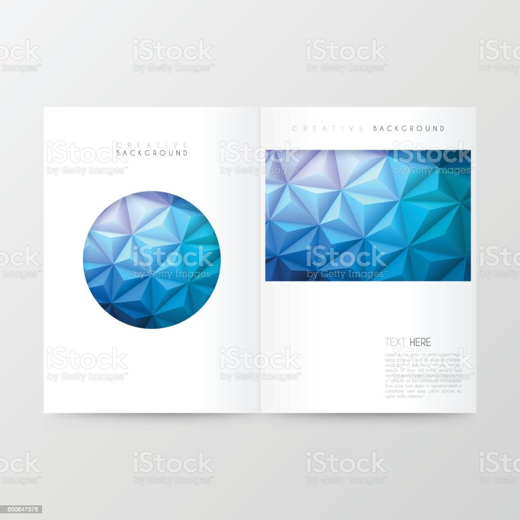 Magazine template with a modern geometric background. Abstract...