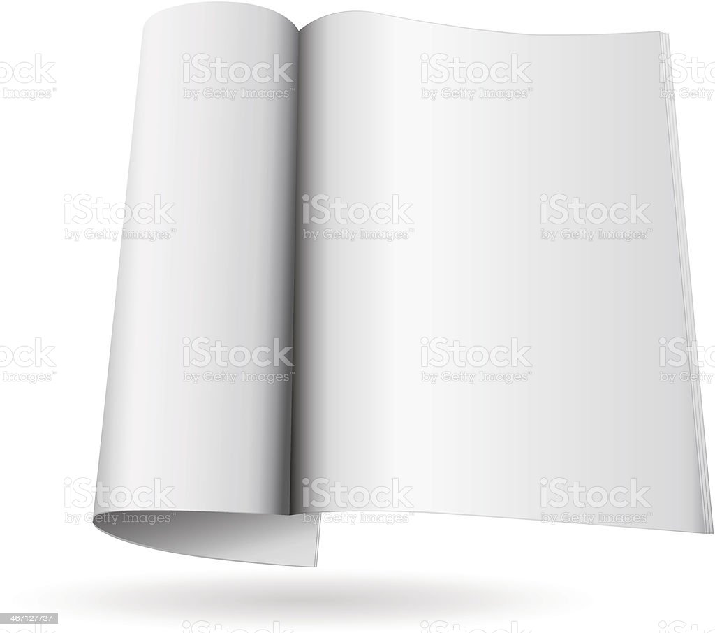 Magazine template royalty-free stock vector art