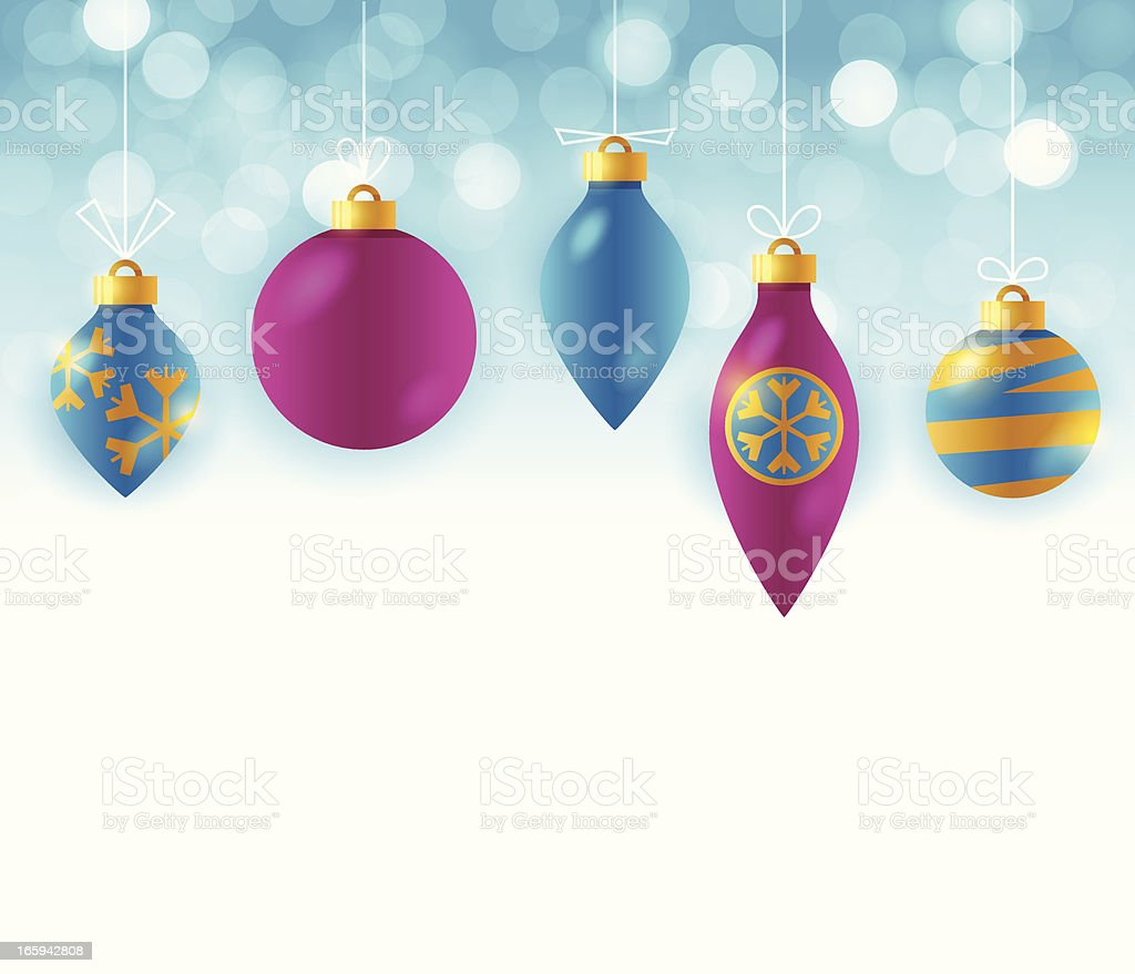 Magenta and Blue Ornaments royalty-free stock vector art