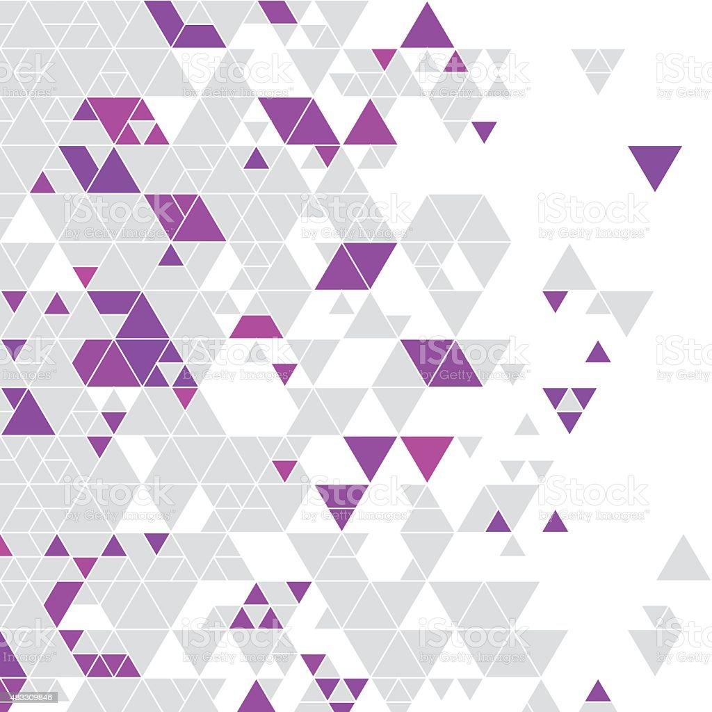 Magenta Gray Color Triangle Pattern vector art illustration