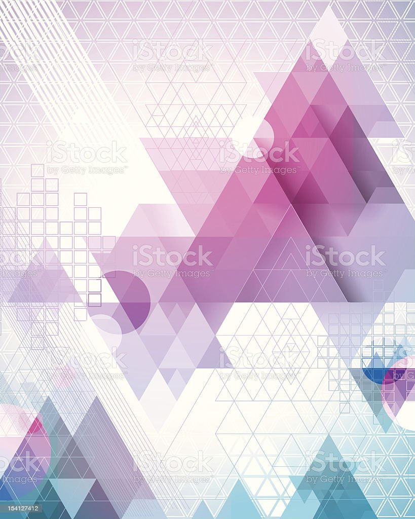 Magenta Triangles royalty-free stock vector art