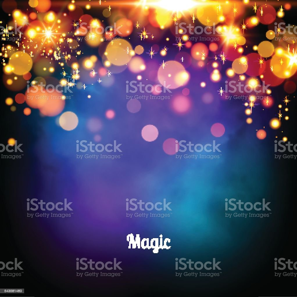 Magic background design. Vector  lights vector art illustration