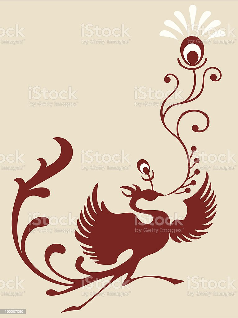 Magic Bird & Feather royalty-free stock vector art