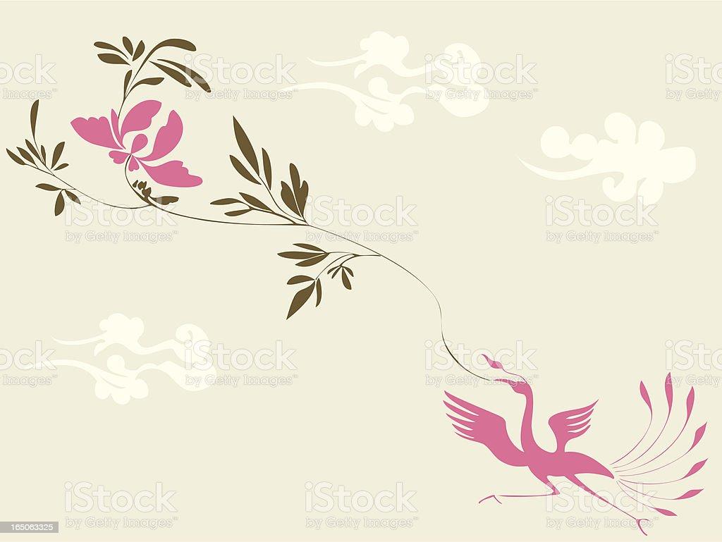 Magic Bird & Plant royalty-free stock vector art