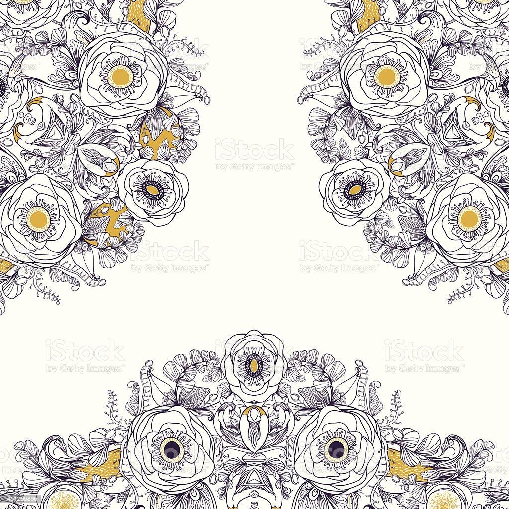 Magic bloom vector art illustration