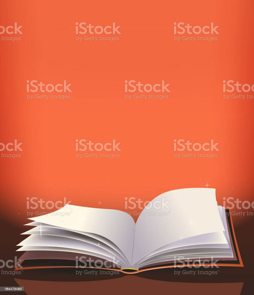 Magic Book And Background vector art illustration