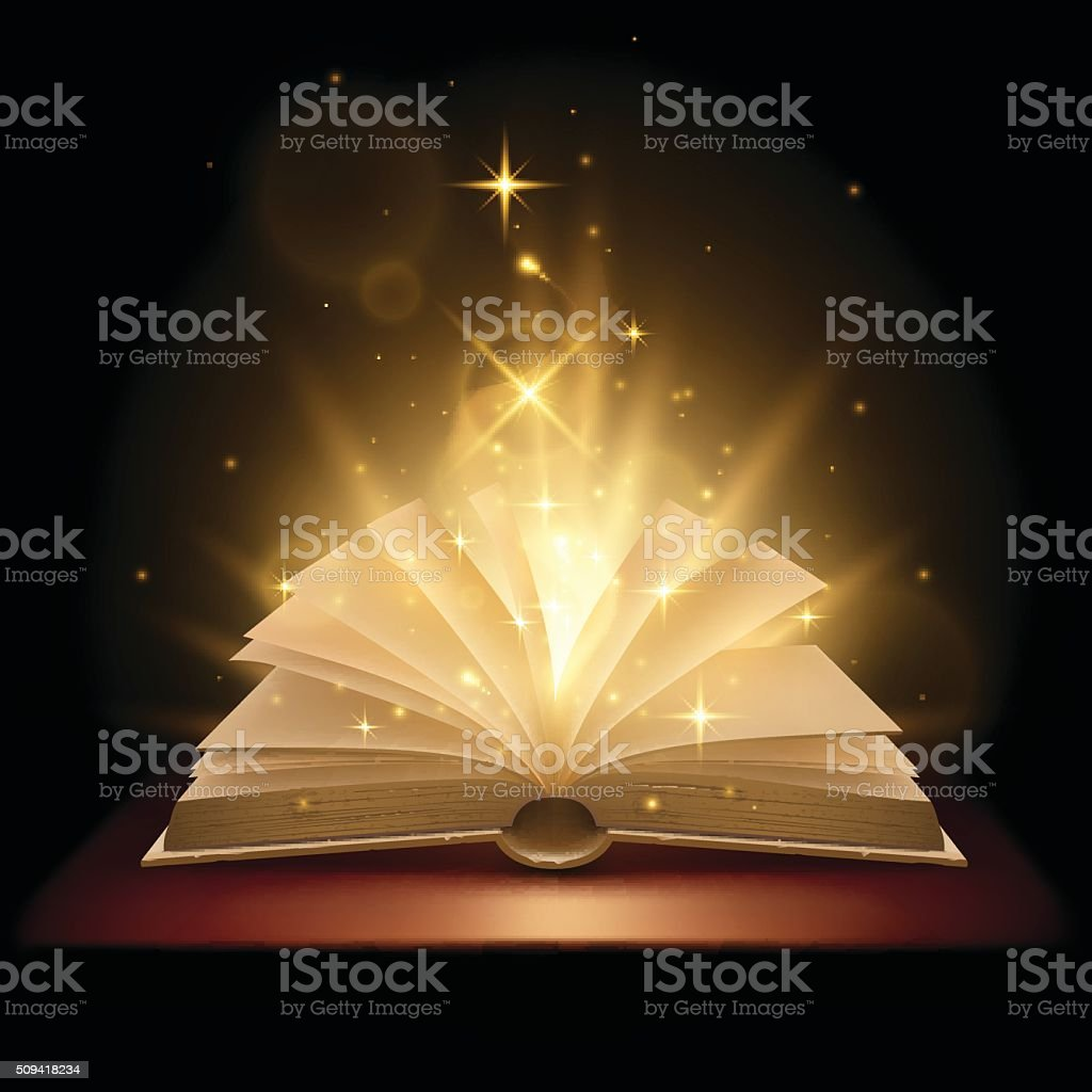 Magic book illustration vector art illustration