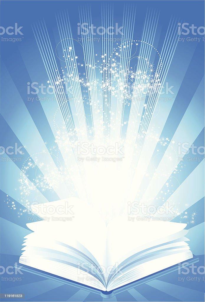 Magic book of wisdom royalty-free stock vector art