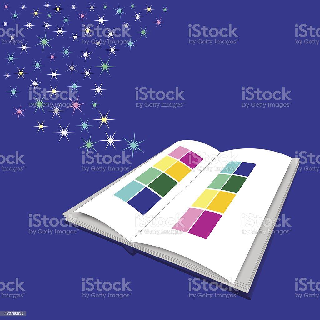 magic book royalty-free stock vector art
