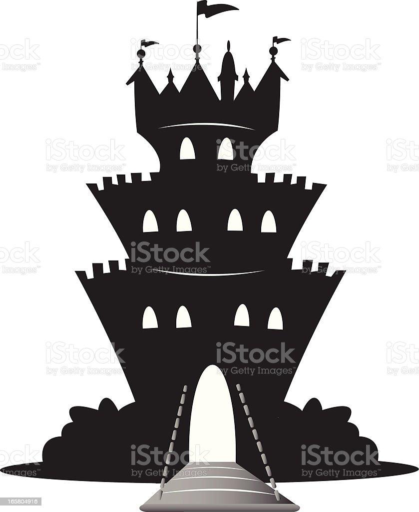 magic castle silhouette royalty-free stock vector art