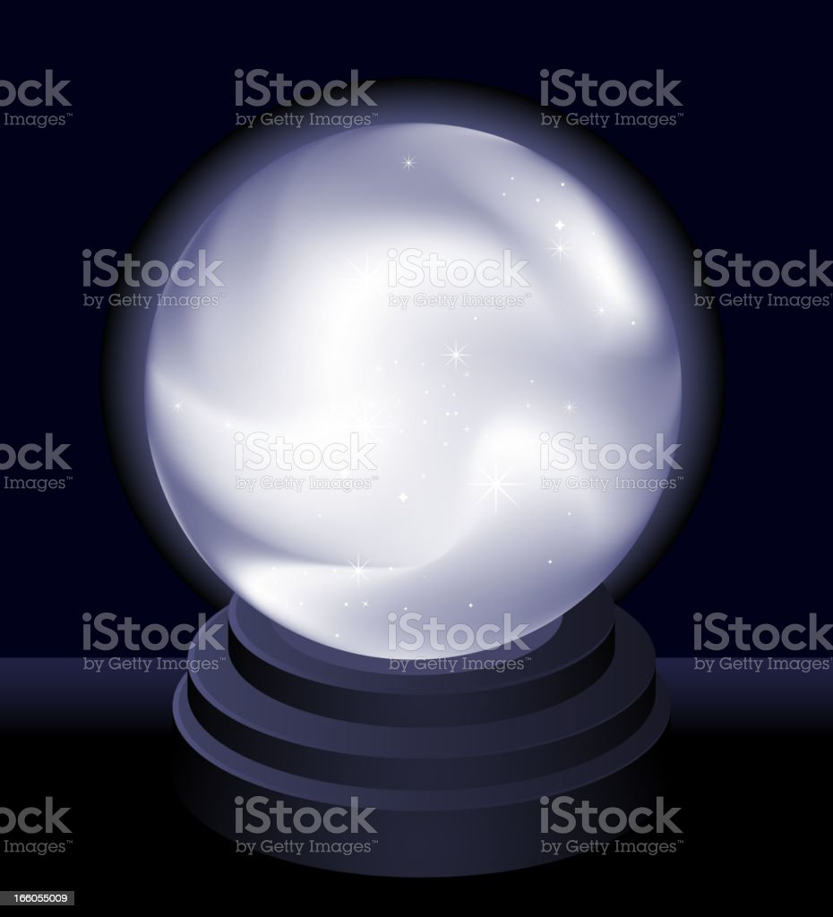 Magic Crystal Ball Fortune teller vector art illustration