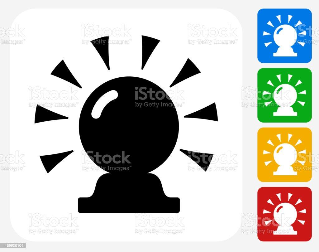 Magic Crystal Ball Icon Flat Graphic Design vector art illustration