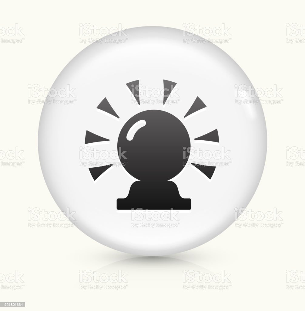 Magic Crystal Ball icon on white round vector button vector art illustration