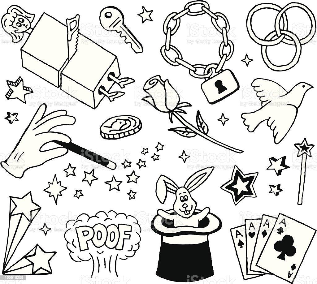 Magic Doodles vector art illustration