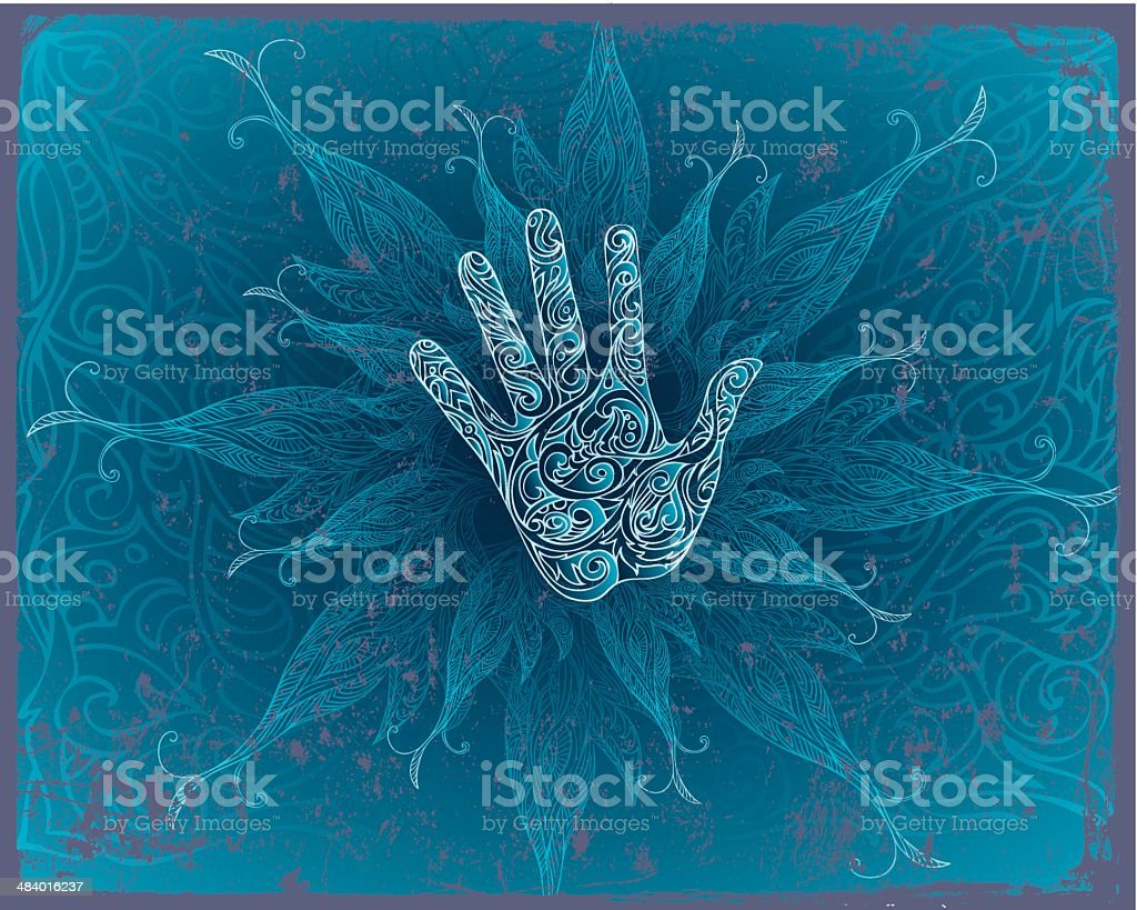 magic energy vector art illustration
