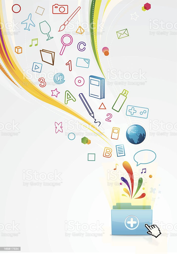 Magic folder royalty-free stock vector art