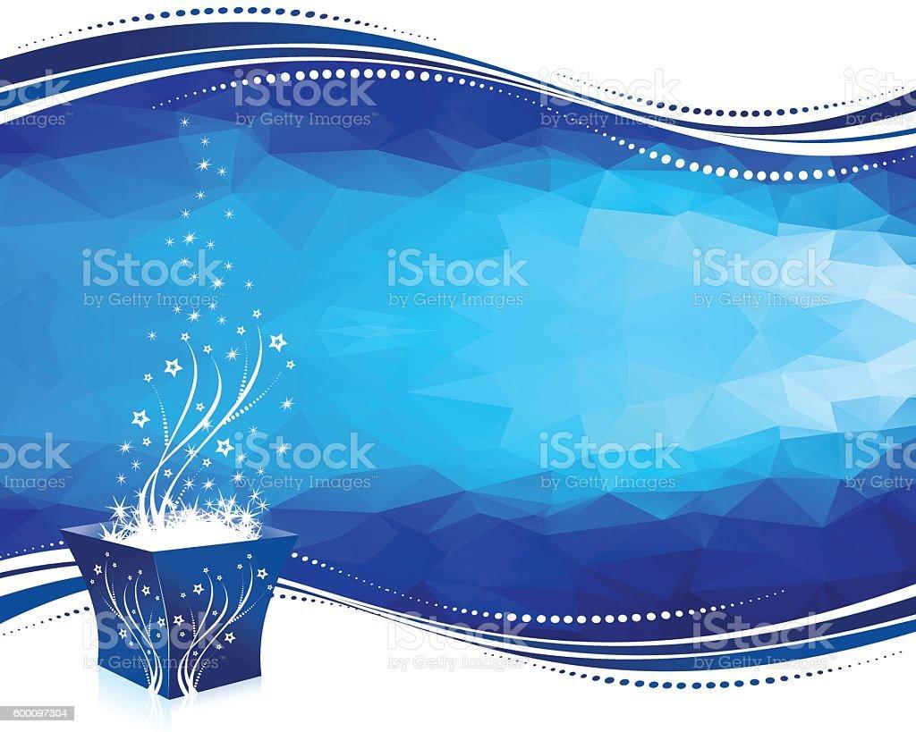Magic Gift Box vector art illustration