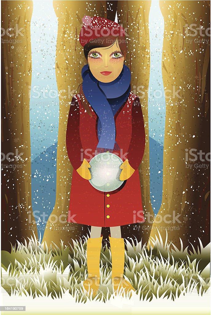 magic girl royalty-free stock vector art
