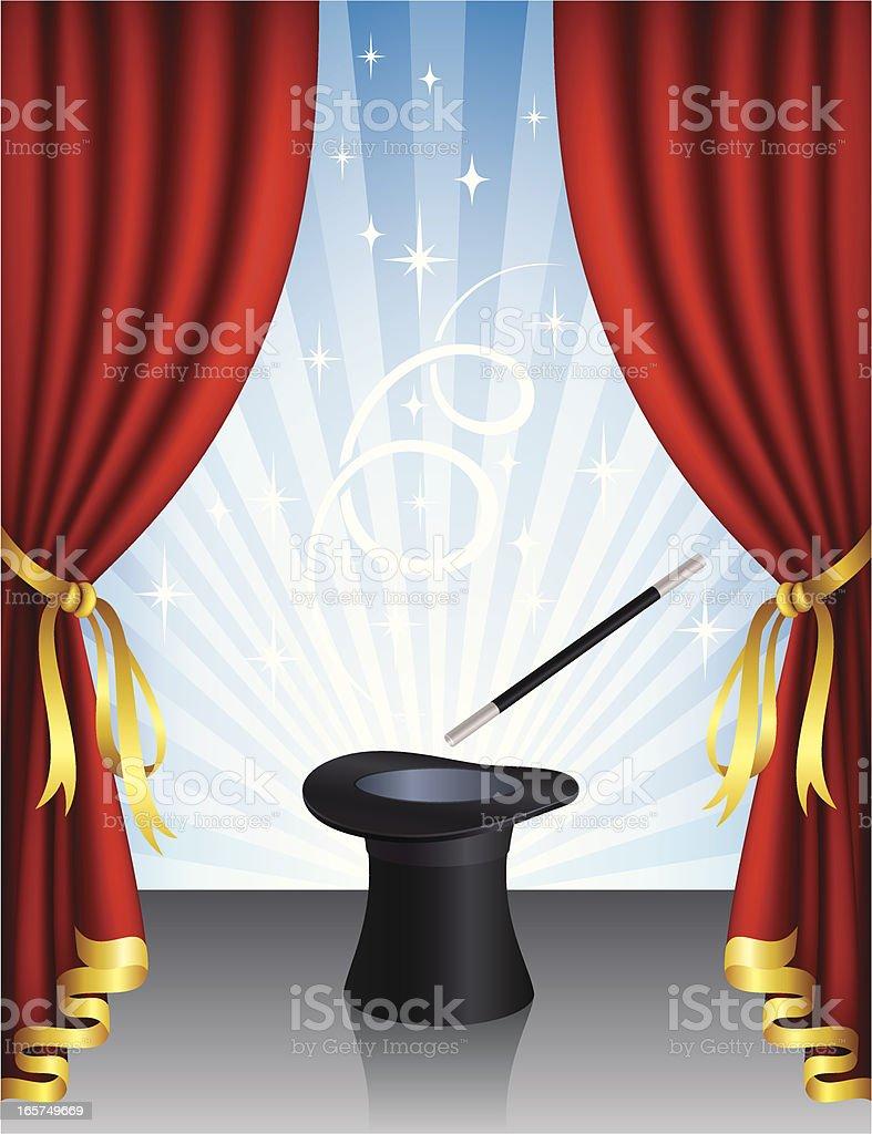 Magic Hat royalty-free stock vector art