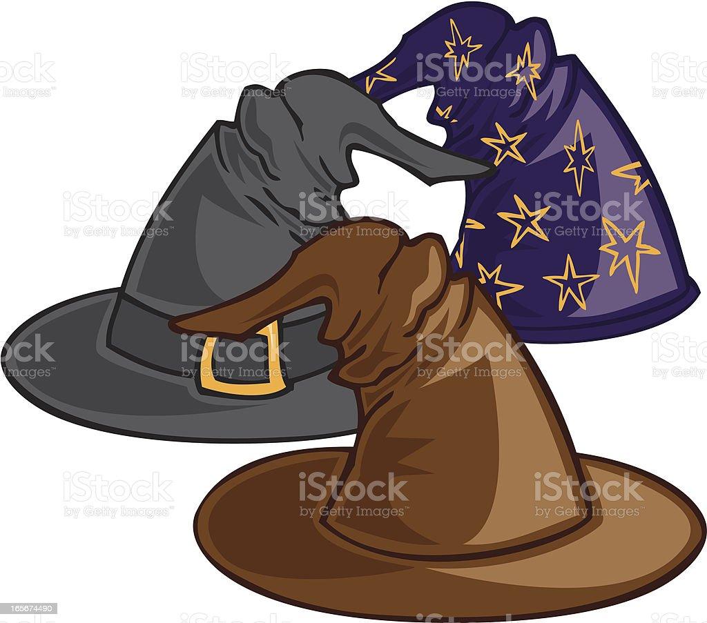 Magic Hats royalty-free stock vector art