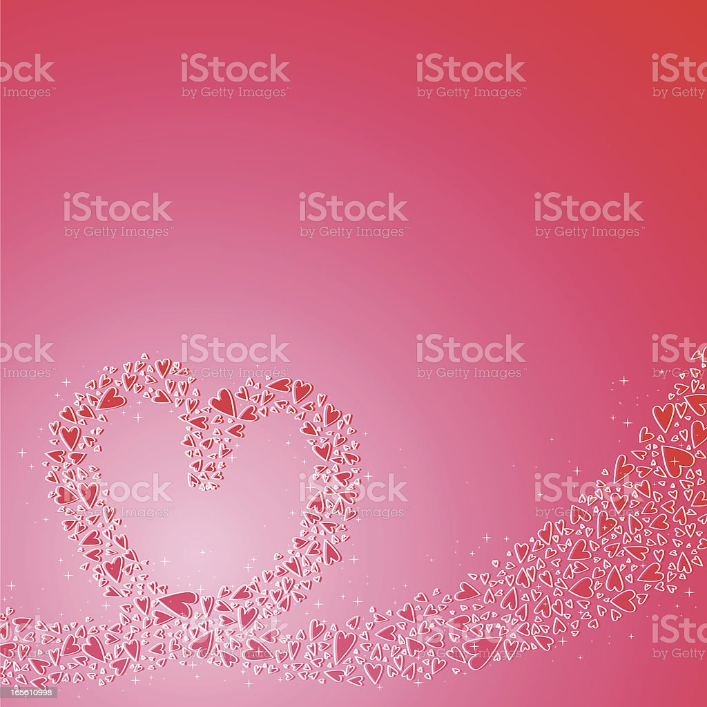 Magic hearts royalty-free stock vector art