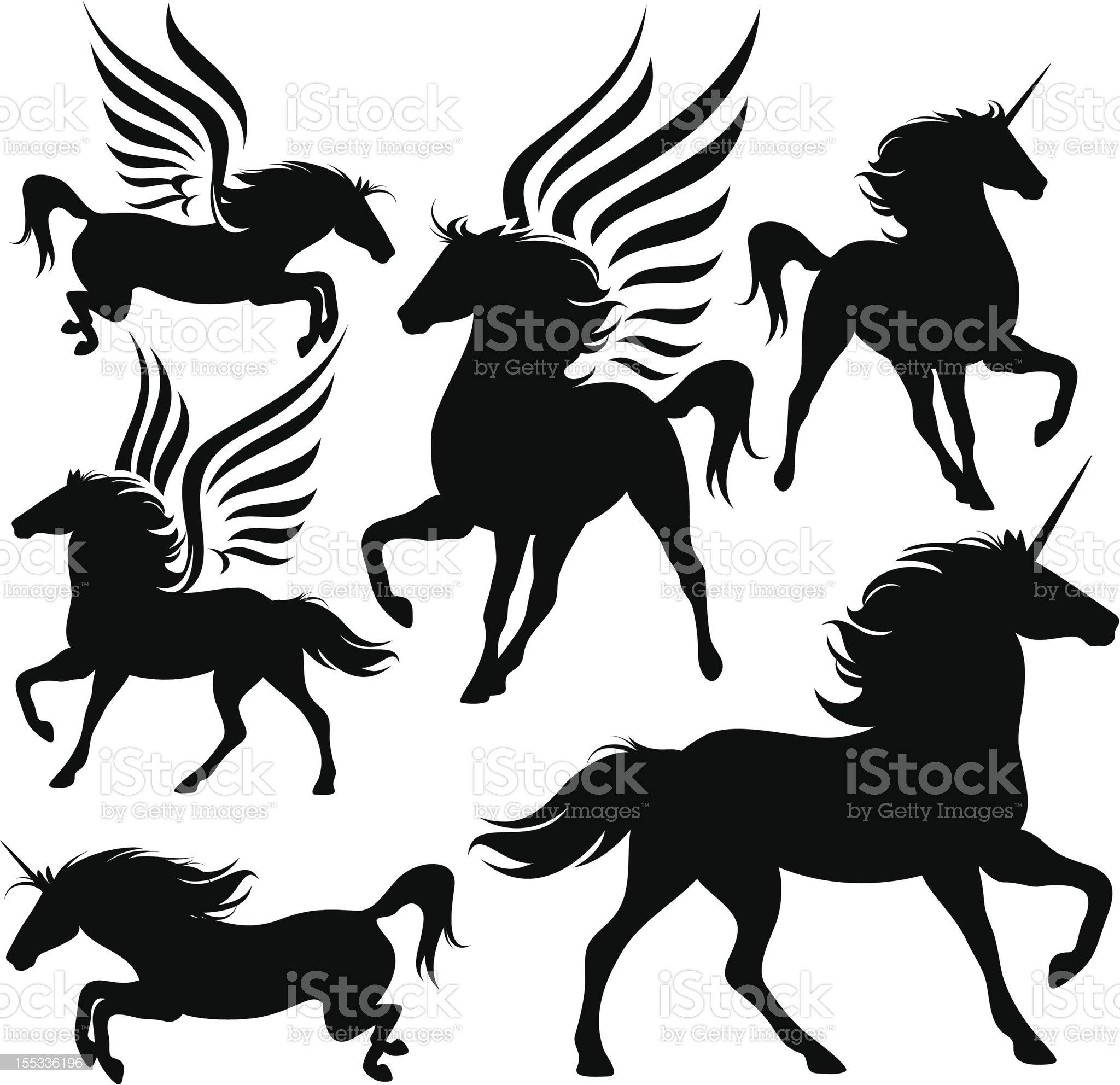 magic horses royalty-free stock vector art