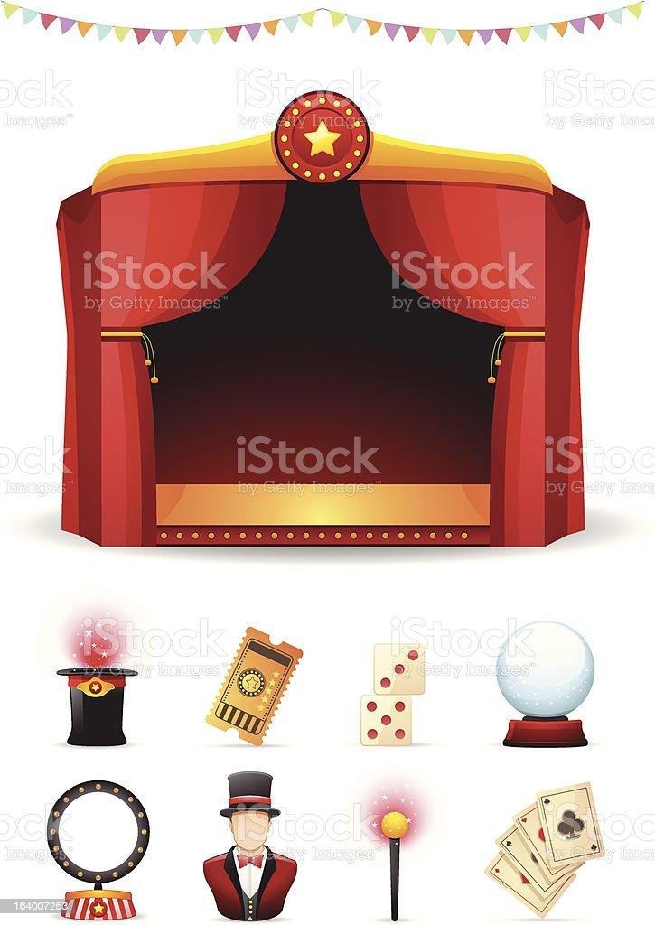 Magic Icons Set royalty-free stock vector art