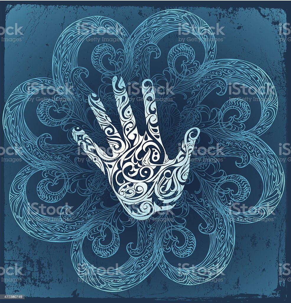 magic influence vector art illustration