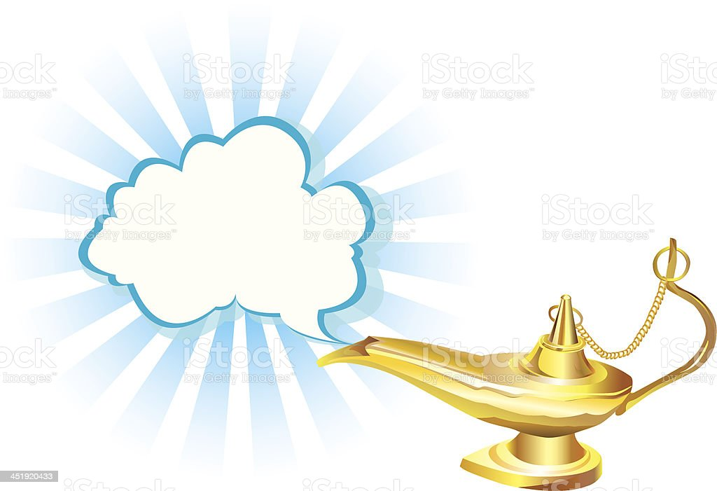 Magic Lamp royalty-free stock vector art