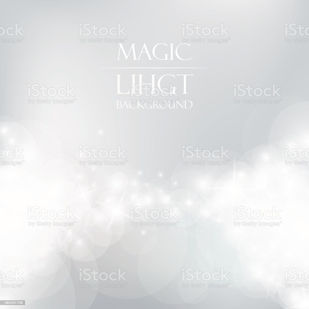 Magic Light Background vector art illustration