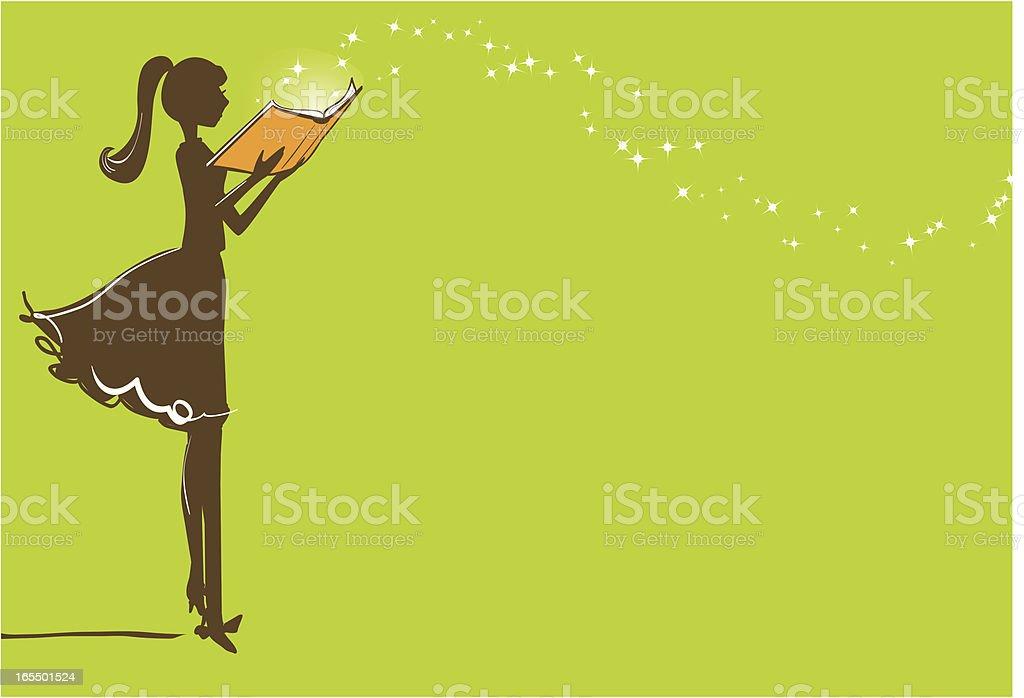 Magic of Reading vector art illustration