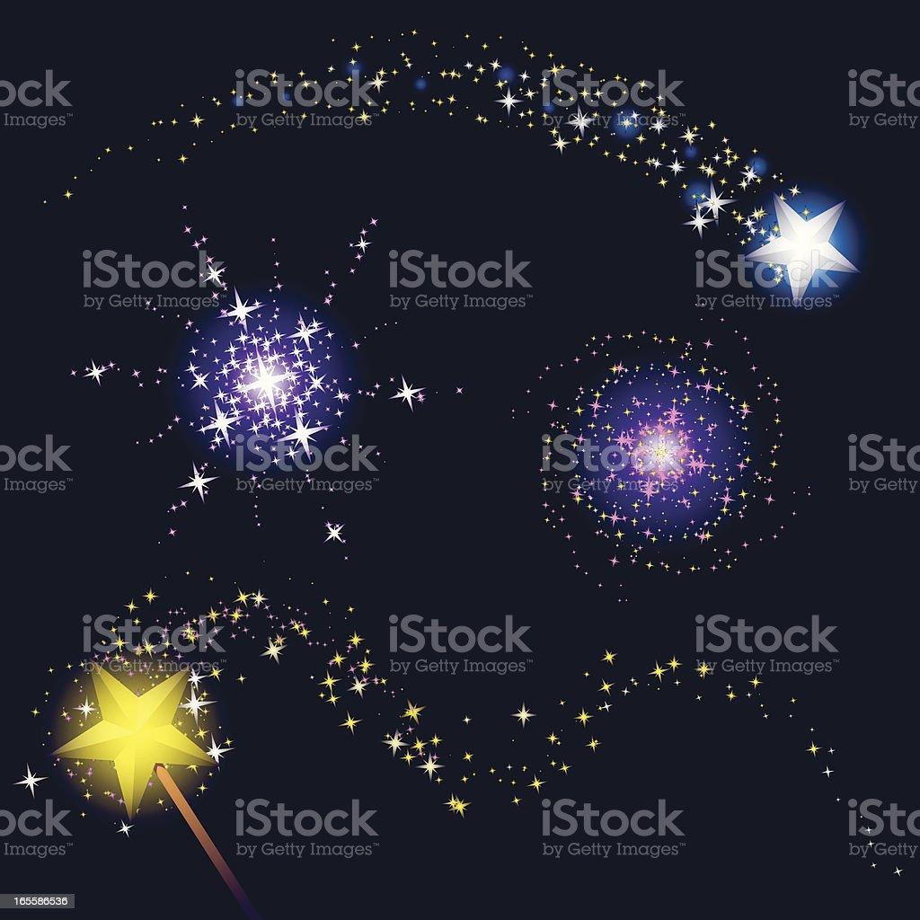 magic of stars vector art illustration