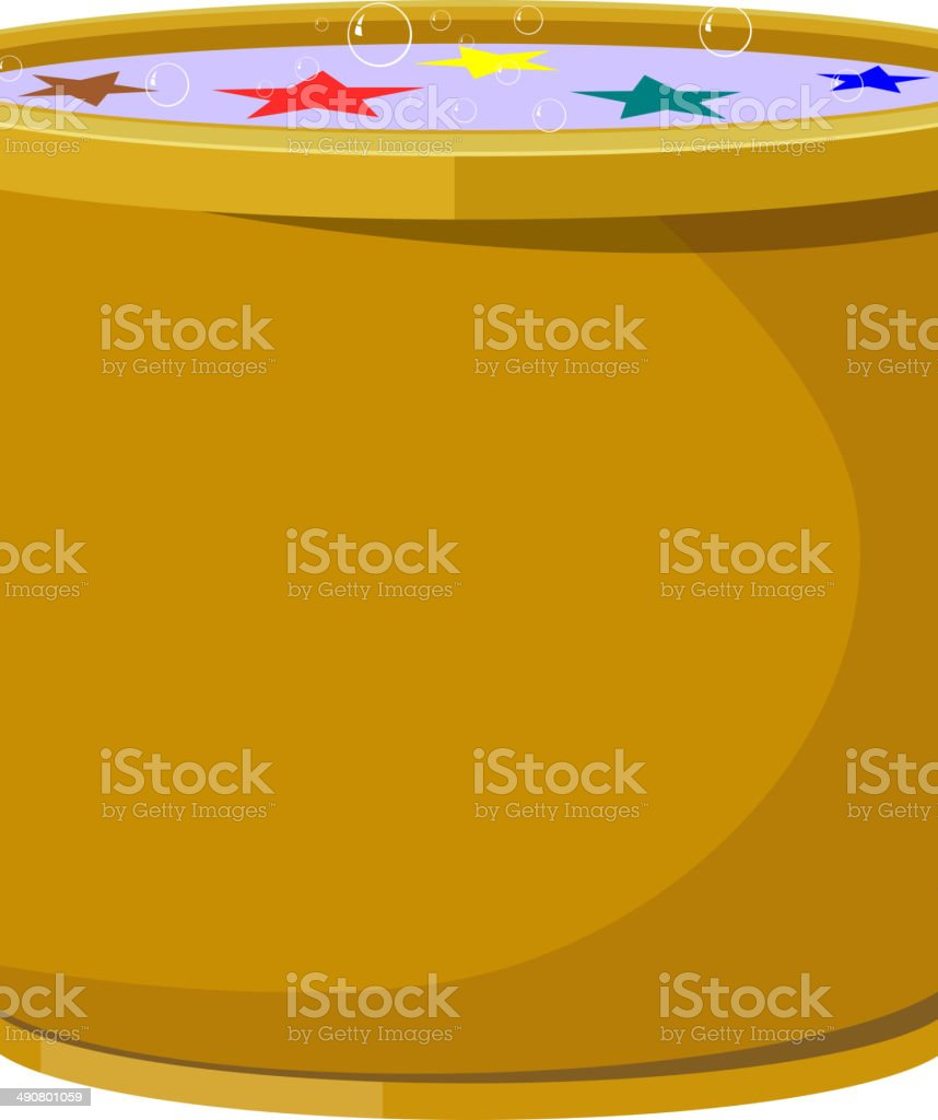 Magic pot. EPS10 royalty-free stock vector art