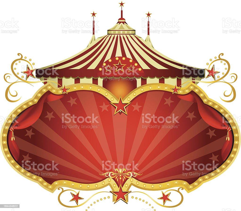 Magic red circus frame royalty-free stock vector art