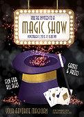Magic Show entertainment night invitation design template