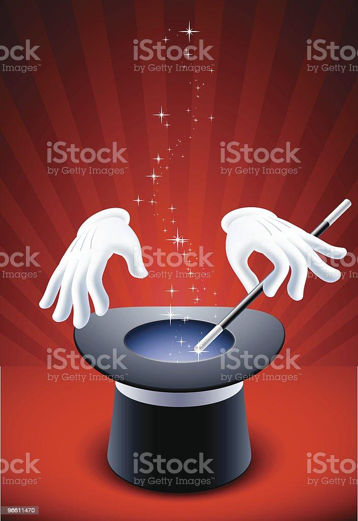 magic show vector art illustration