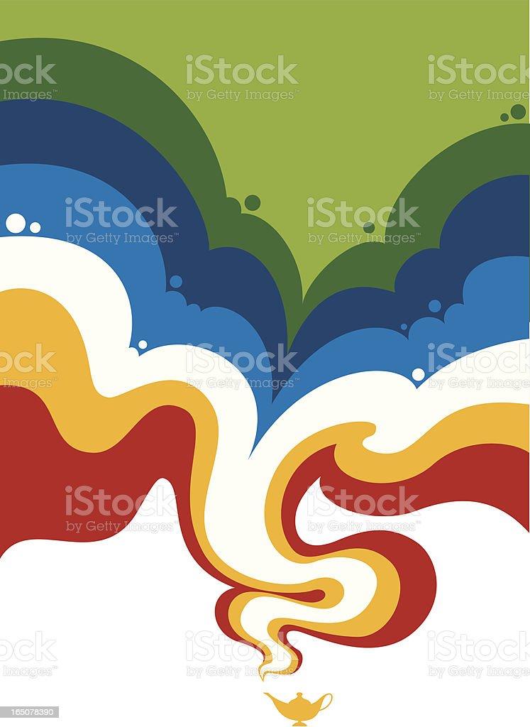 magic smoke vector art illustration