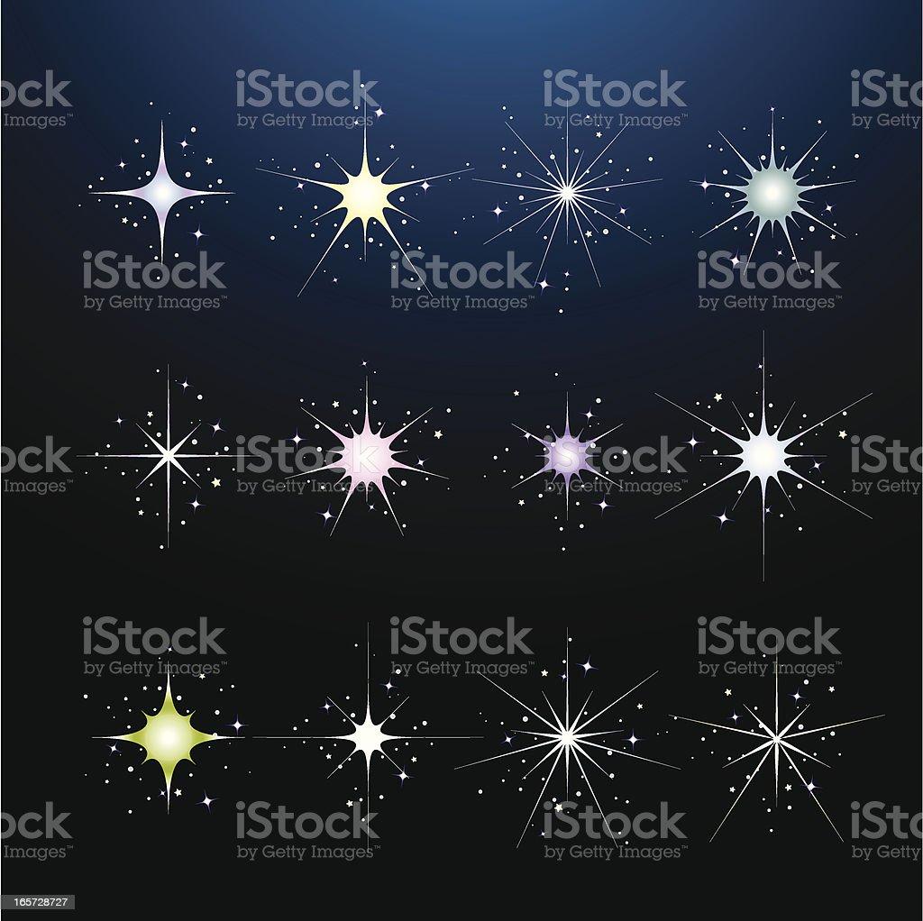 Magic Sparkle Design Elements royalty-free stock vector art