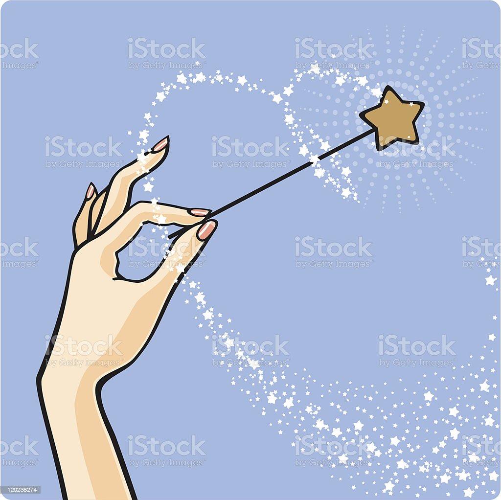 Magic star dust vector art illustration