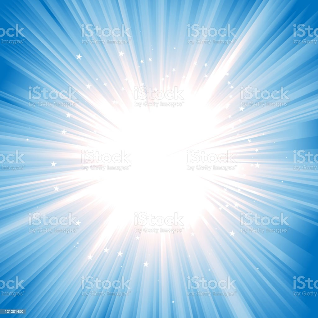 Magic Starburst With Dynamic Editable Colors vector art illustration