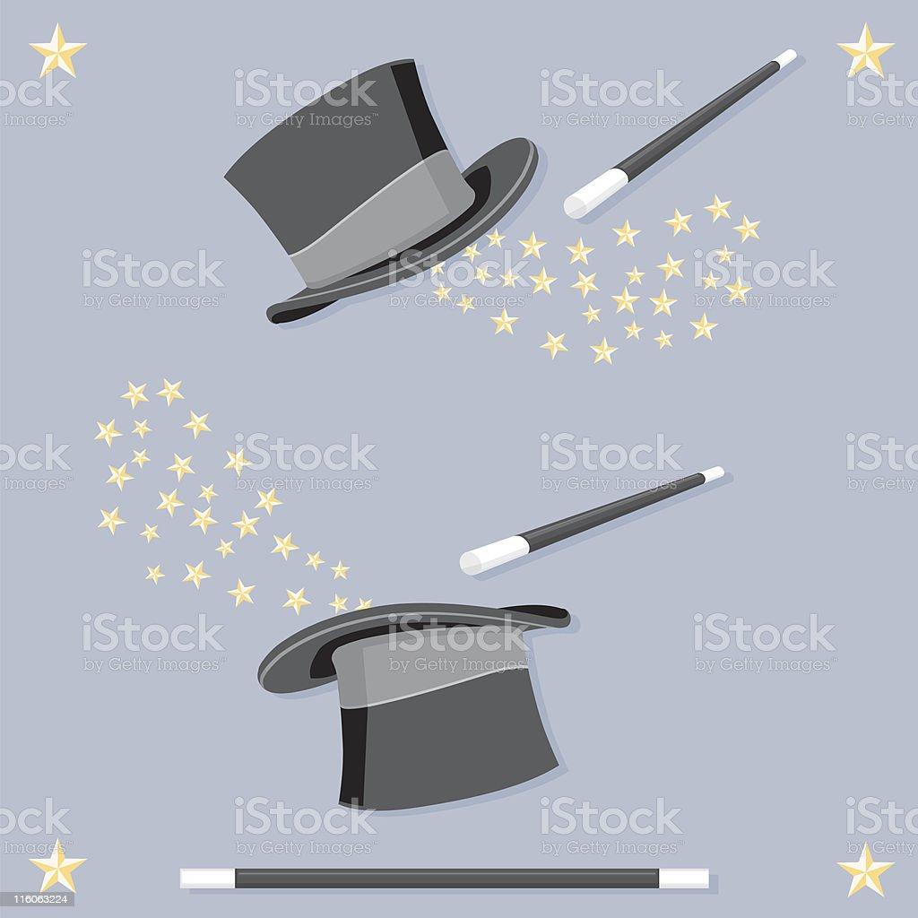 Magic Top Hat vector art illustration