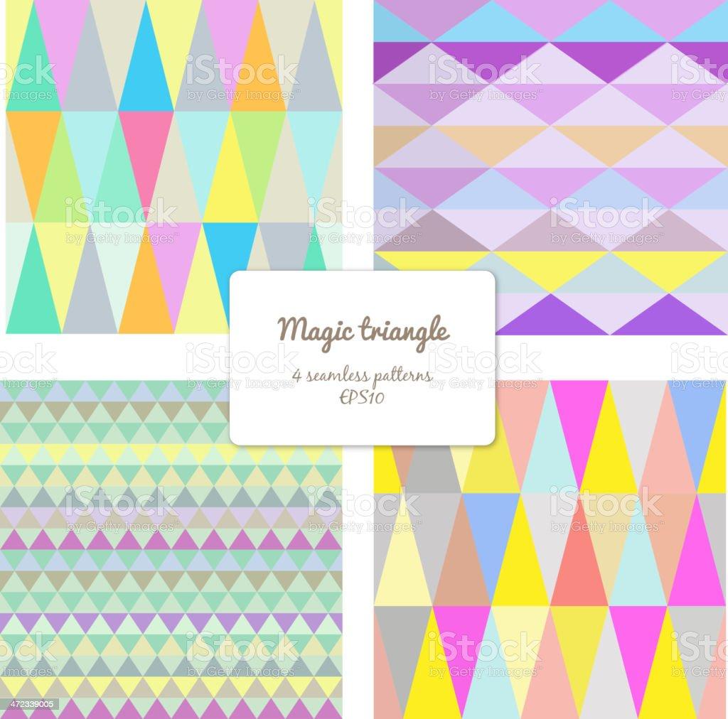 Magic triangle royalty-free stock vector art