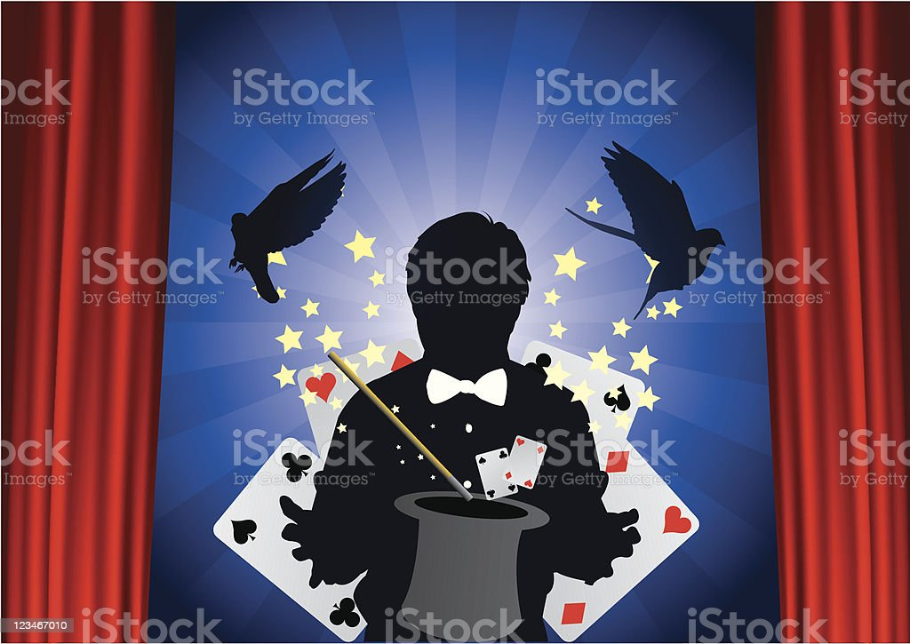 Magic trick royalty-free stock vector art