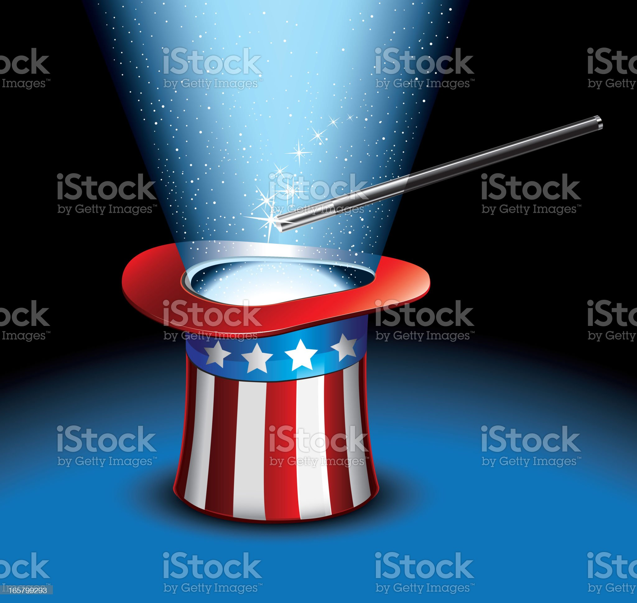 Magic Uncle Sam Hat royalty-free stock vector art