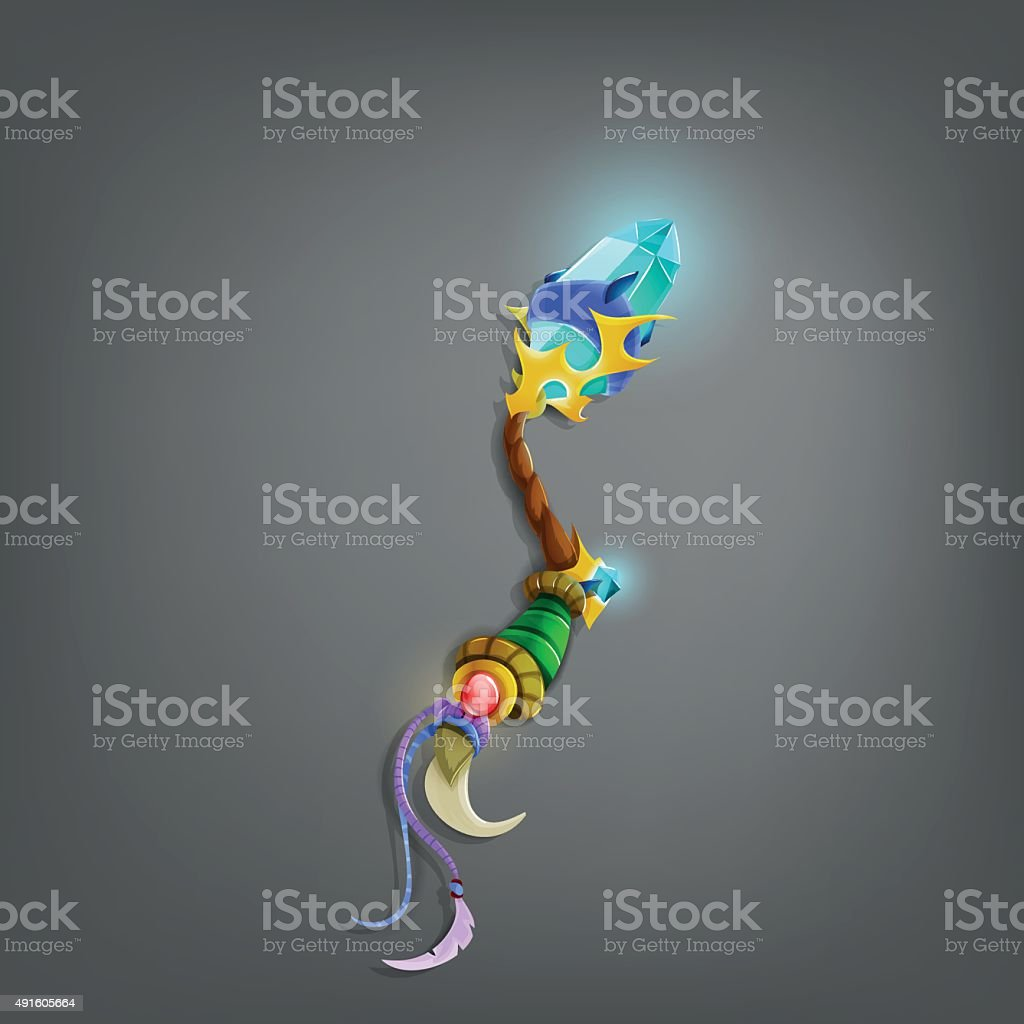 Magic wand for games. Vector illustration. vector art illustration