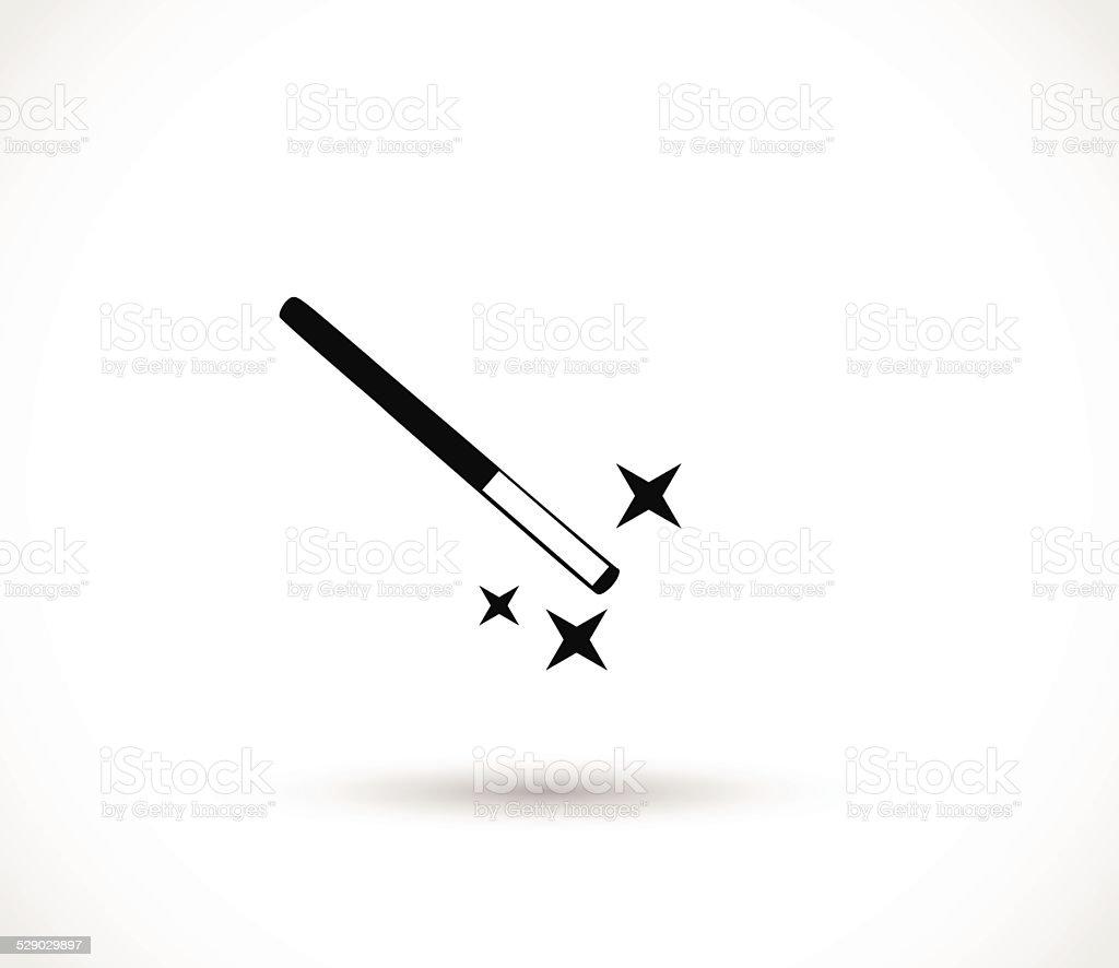 Magic wand icon vector vector art illustration