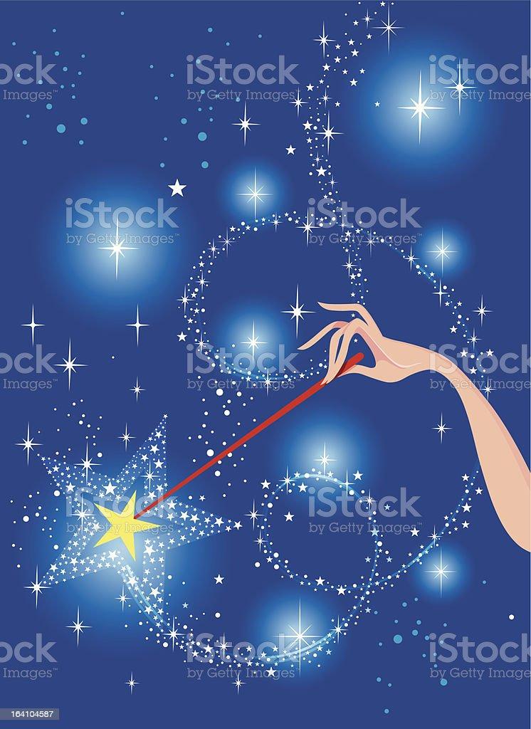 Magic Wand vector art illustration