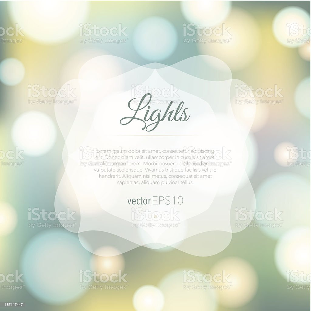 Magical background with colorful bokeh vector art illustration